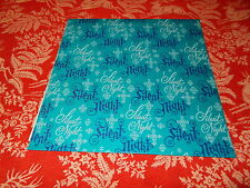 VTG CHRISTMAS WRAPPING PAPER GIFT WRAP MID CENTURY BLUE SILENT NIGHT SNOWFLAKE