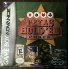 NEW FACTORY SEALED TEXAS HOLD'EM CARD GAME FOR GAME BOY ADVANCE HOLD EM MINT CIB
