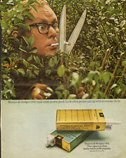 1970 Vintage ad for Benson & Hedges Cigarettes/Man/Hedge Clippers (050413)