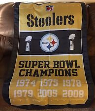 Pittsburgh Steelers flag SUPER BOWL CHAMPIONS 1974 1975 1978 1979 2005 2008 3X5'