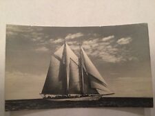 Sailboat vintage old photo postcard Beautiful Picture