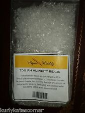 1/2 POUND OF CIGAR CADDY PRECHARGED 70% RH SILICA BEADS
