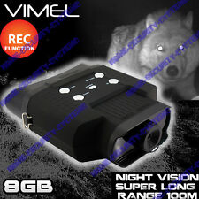 Binocular Night Vision 8GB Monocular Hunting Goggles Digital NV Game Camera