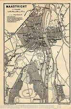 Antique map Maastricht Limburg  1901 kaart karte carte Sint-Pietersberg