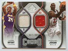 2009-10 SP Game Used Combo Materials Kobe Bryant Michael Jordan Jersey 482/499