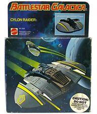 Vintage 1978 Mattel Battlestar Galactica Firing Cylon Raider Mint w/Box & Figure