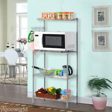 3-Tier Kitchen Baker's Rack Microwave Oven Stand Storage Cart Workstation Shelf