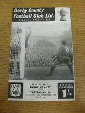 20/09/1969 Derby County V Tottenham Hotspur (acqua danneggiato in alto). se non Prev