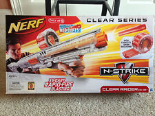 NEW NERF N-STRIKE CLEAR RAIDER CS-35 DART BLASTER W/HIGH CAPACITY DRUM MAGAZINE