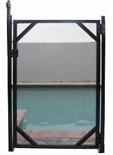 Water Warden Self Closing Gate for Safety Fence w/ Magna Latch 4' Height WWG201