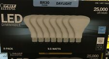 8 Feit Electric BR30 LED Dimmable 65W Ships FREE In USA Natural Daylight Light !