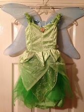 NWT! DISNEY WORLD Princess Peter Pan Fairy TINKERBELL Fancy Dress COSTUME S 6/6X