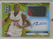 2014-15 Spectra Basketball James Ennis Gold Prizm Auto Patch Card # 4/10