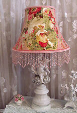 "12"" LAMP SHADE French FRAGONARD Toile chic pink Richloom fabric Cameo Shabby"