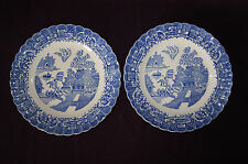 """Blue Willow Limoges USA set of 2  dinner plates 9-3/4"""" china dinnerware"""