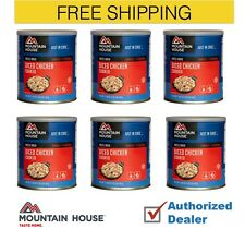 Mountain House Freeze Dried Cooked Diced Chicken Emergency Food Case, 6 Cans