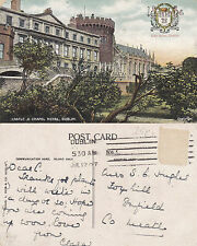 1907 CASTLE & CHAPEL ROYAL DUBLIN NORTHERN IRELAND COLOUR POSTCARD