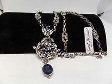 SWEET ROMANCE CHEVALIER Blue Crystal Intaglio Necklace! Brand New!