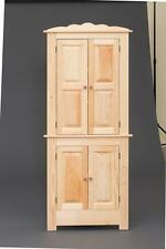 "AMISH BUILT HANDCRAFTED PINE WOOD CORNER HUTCH CABINET 31""Wx73""H-UNFINISHED"