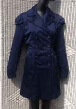 Women's KUT For Kloth Lightwear Coat In Blue Structured Shoulders Large 12-14 ��