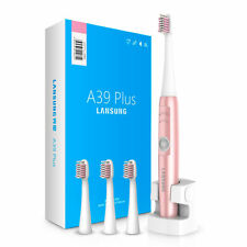 Rechargeable Ultrasonic Teeth Electric Electronic Toothbrush+ 4 Brush Heads 220V