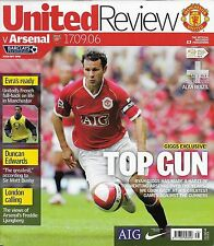 Football Programme MAN UTD v ARSENAL Sept 2006