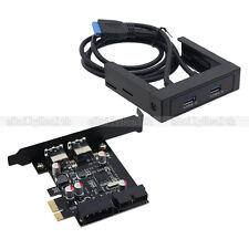 "3.5"" Floppy Bay USB 3.0 Front Panel Ports with expansion NEC PCI-E Express Card"