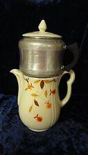 Hall Jewel Tea Autumn Leaf Coffee Pot with Metal Drip Coffee Maker