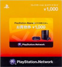 PlayStation Network Card 1000 YEN Instant Code - Japan / PSN PS4 PS3 PSVita PSP
