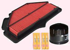 Kit DE SERVICIO-Enchufes, Filtro De Aire & Filtro De Aceite para Suzuki GSR GSR750 2011 a 2016