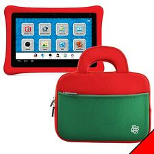 KOZMICC Red/Green Kids Nabi 2 Tablet Sleeve Pocket Bag Case Cover