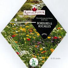 Mélange de fleurs pour réaliser des bordures et des rocailles, Graines