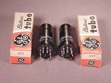 2 6N7 GENERAL ELECTRIC TV Radio Amplifier Tubes Matching Codes NU New Old Stock