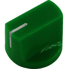 "NEW - Mini Bar knob for guitar pedals amplifiers projects 1/4"" set screw- Green"