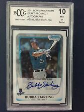 2011 Bowman Chrome Bubba Starling Autograph Rookie BECKETT PERFECT 10! Royals!!