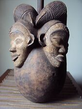 SALE RARE DOUBLE PUNU MASK Headdress African Carving Statue!!