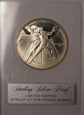 1970 Youth for Peace Franklin Mint Silver Medal Brilliant Uncirculated in Case