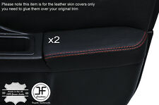 ORANGE STCH 2X FRONT DOOR ARMREST LEATHER COVER FOR SUBARU IMPREZA WRX STI 01-04
