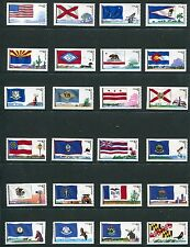 US 2008-2012 Flags of Our Nation Singles Complete 60 Stamps, Scott 4273-4332 NH