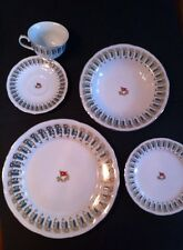 Titanic Dinner Plate Set- 5 Piece Place Setting ,J Peterman PROP recreation,RARE