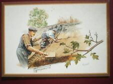 POSTCARD E1-11 THATCHING - BY M GREENSMITH COUNTRY CRAFTS
