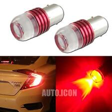 2pcs Strobe Flashing Red 1157 2357 LED Projector Bulbs For Car Tail Brake Lights