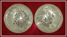 "2 - 3"" Silver Hand Engraved Conchos"