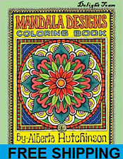 Coloring Book For Adults Mandala Designs Beautiful Patterns Stress Relief NEW