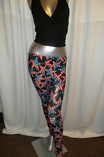 Unique Women American Flag Casual /Club Stretch  Leggings Pants S 8-12