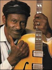 Chuck Berry Gibson ES-350 guitar 8 x 11 color close-up pinup photo
