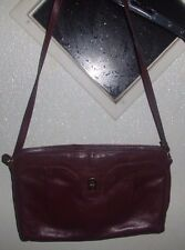 WOMEN'S ETIENNE AIGNER BURGUNDY LEATHER SHOULDER BAG