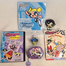 POWERPUFF GIRLS 3D BOOK, DVD, CHAPTER BOOK, COIN PURSE, MOJO, BUTTERCUP LOT OF 6