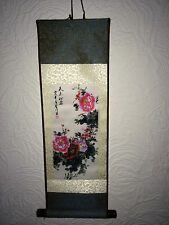 Famous Asian Chinese Ancient Flower Landscape Painting Silk Scroll Birthday Gift