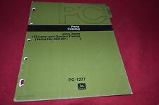 John Deere 112 Lawn Tractor Parts Book Manual DCPA3 ver2